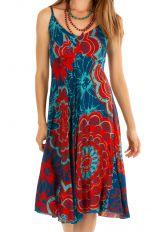 Robe courte bain de soleil colorée à fines bretelles Irina