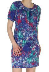 Robe courte Bleue d'été Originale et Colorée Christina 283059