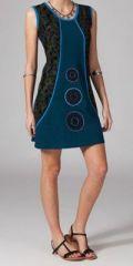 Robe courte bleue en coton Pascalina 269061
