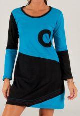 Robe courte Bleue et Noire Ethnique et Originale Ischia 279730
