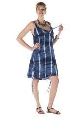 Robe courte bleue nuit Ursula 312509