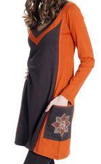 Robe courte brodée à la main Ethnique et Colorée Hallow 286800