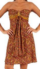 Robe courte bustier d'été Colorée et Imprimée Maltayh 285925