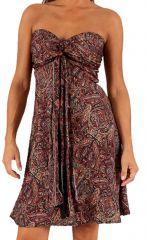 Robe courte bustier d'été Pas Chère Ethnique et Imprimée Buldam 285923