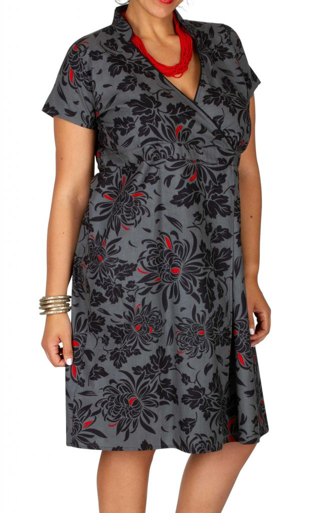 Robe Courte Cache Coeur Femme Ronde Grande Taille Lady