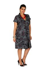 Robe courte cache-coeur femme ronde grande taille Lady