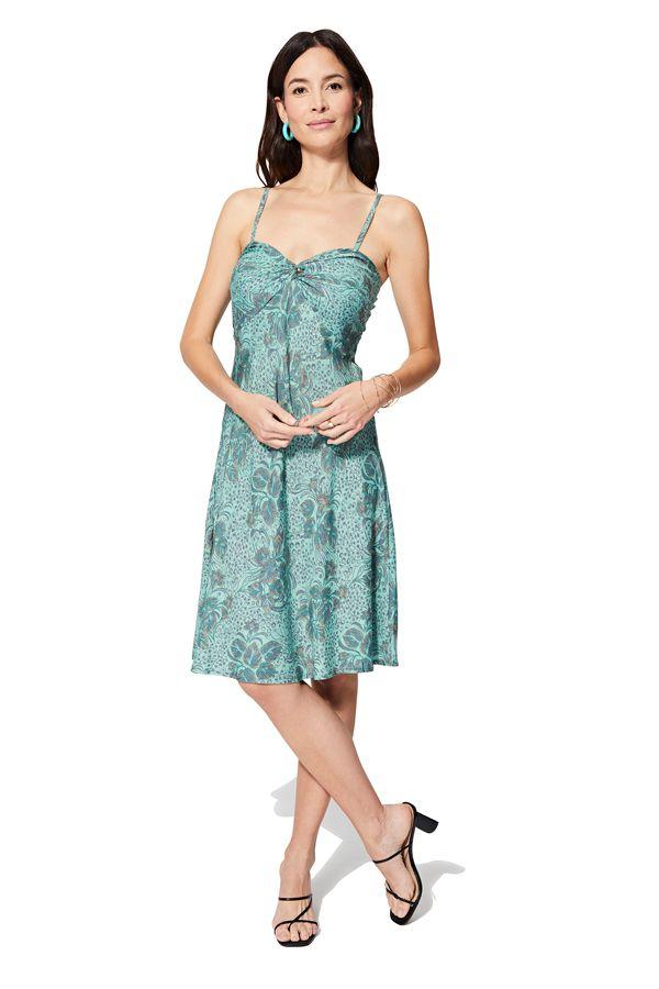 Robe courte caraco ou slip dress femme pour été chic et originale Salma