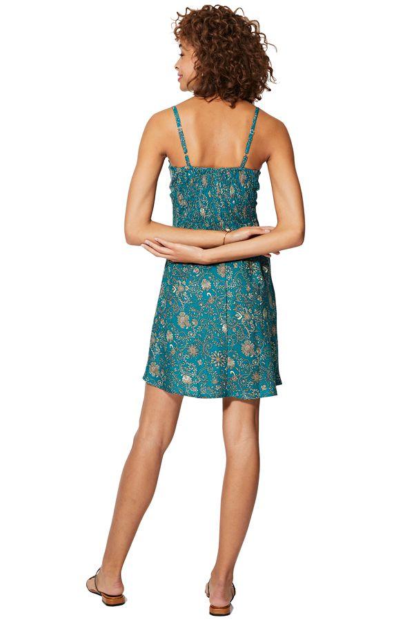 Robe courte caraco style nuisette chic à imprimé floral Rosie