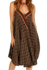 Robe courte casual à dos nu fluide et légère pour l'été Malena 306324