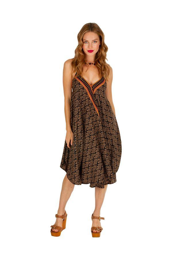 Robe courte casual à dos nu fluide et légère pour l'été Malena 306325