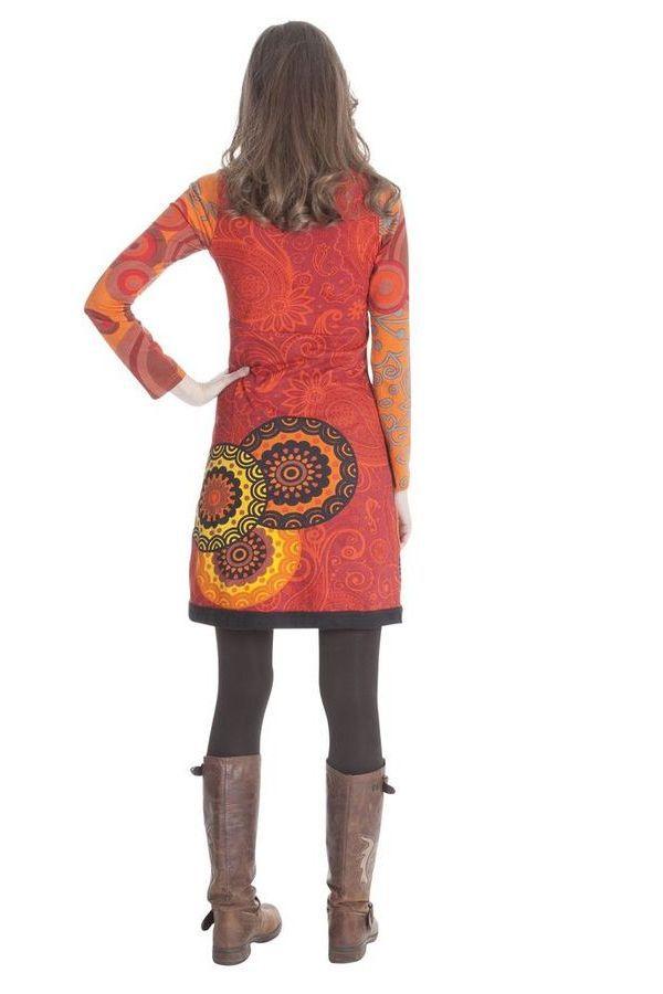 Robe courte col en V Ethnique et Originale Ludovica 285360