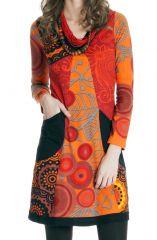 Robe courte col en V Ethnique et Originale Ludovica 286616