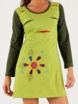 Robe courte collection Hiver Colorée et Fantaisie Amanda Verte 277893