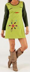 Robe courte collection Hiver Colorée et Fantaisie Amanda Verte 277894