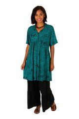 Robe courte colorée à manches courtes effet plissé Zarah 306334