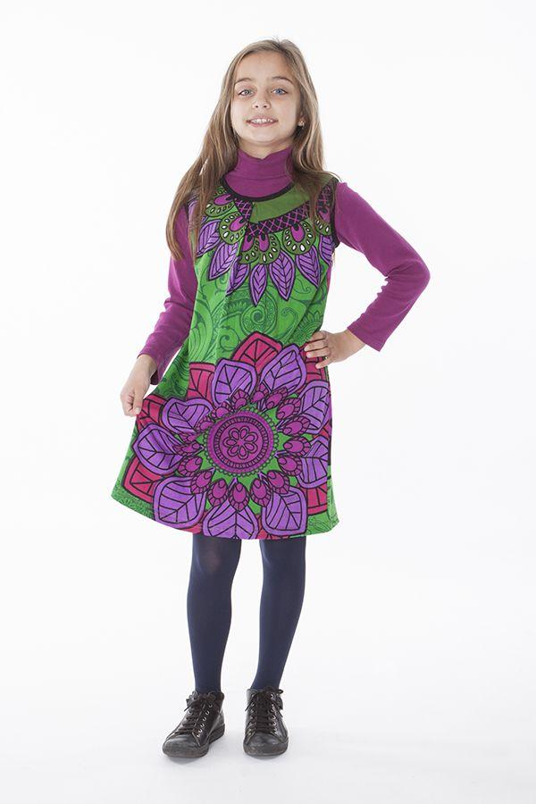 Robe courte colorée pour fille sans manche 287160