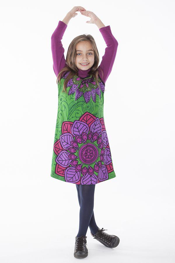 Robe courte colorée pour fille sans manche 287161