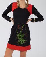 Robe courte d'automne pour femme noire et ethnique Salindro 315004