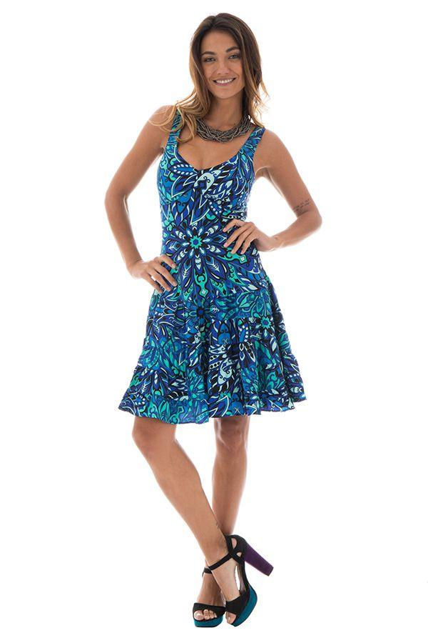 robe courte d'été a bretelles et col en v ajusté Deirdre 289916