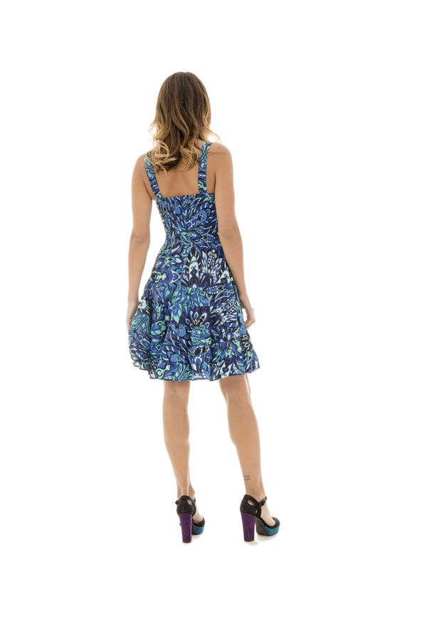 robe courte d'été a bretelles et col en v ajusté Deirdre 289917