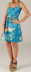 Robe courte d'été à bretelles Originale et Colorée Sévilla 277860