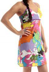 Robe courte d'été à col en V et très Colorée Janaki Multicolore 283329