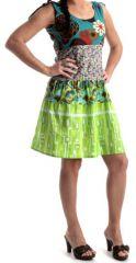 Robe courte d'été à larges bretelles Originale et Colorée Folkia 279626