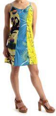 Robe courte d'été avec col en V Originale et Colorée Fruity 279654