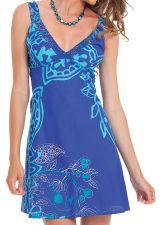 Robe courte d'été Bleue Originale et Colorée Bérénice 281624