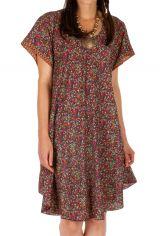Robe courte d'été bohème à fleurs Sukuta multicolore 314539