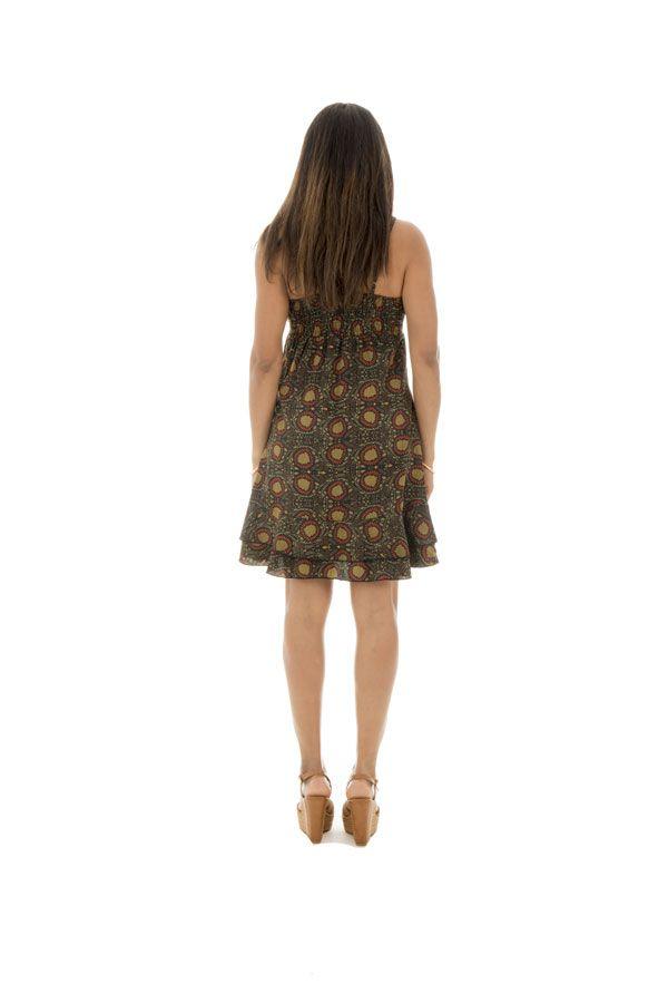 robe courte d'été col en v et fines bretelles Simeon 289887