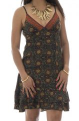 robe courte d'été col en v et fines bretelles Simeon 292146