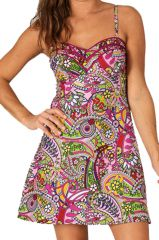 Robe courte d'été Colorée et Imprimée Ninian 285966