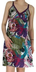 Robe courte d'été Colorée et Originale Electra Violette 282572