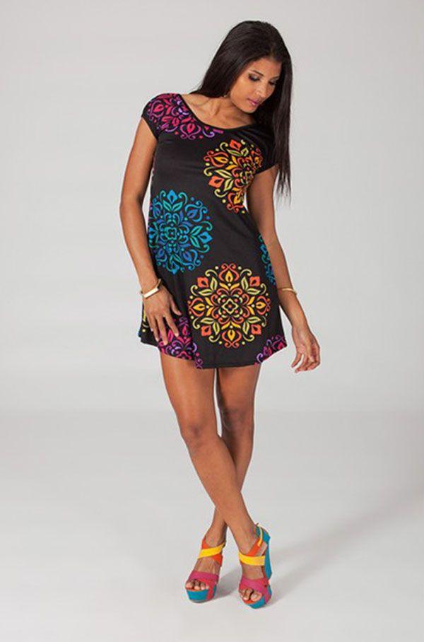 Robe courte d'été colorée et originale Palina 2 318763