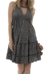 robe courte d'été dos nu avec bretelles à nouer et col plongeant Sterenn 292142