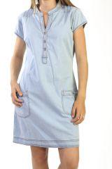 Robe courte d'été en Jean Originale et Tendance Bleue Nairam 291019