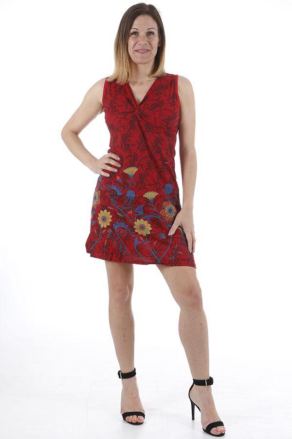 Robe courte d'été ethnique agréable et pas chère Yumi 310355