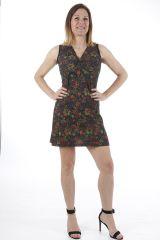 Robe courte d'été ethnique chic et colorée Sabrina 310918