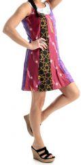 Robe courte d'été Ethnique et Colorée Byzane Violette 279553