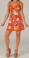 Robe courte d'été Ethnique et Originale Glacia Orange 279518