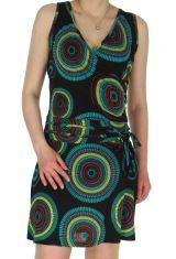 Robe courte d'été Ethnique et très Féminine Lalima Noire 285224