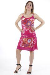 Robe courte d'été ethnique imprimée et colorée Ludivine 310411