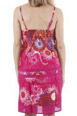 Robe courte d'été ethnique imprimée et colorée Ludivine 310413