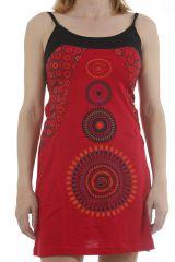 Robe courte d'été ethnique imprimée mandalas Caminia 311869