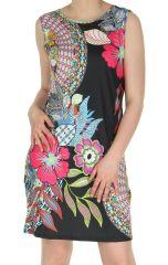 Robe courte d'été Féminine et Colorée Clara Noire 284013
