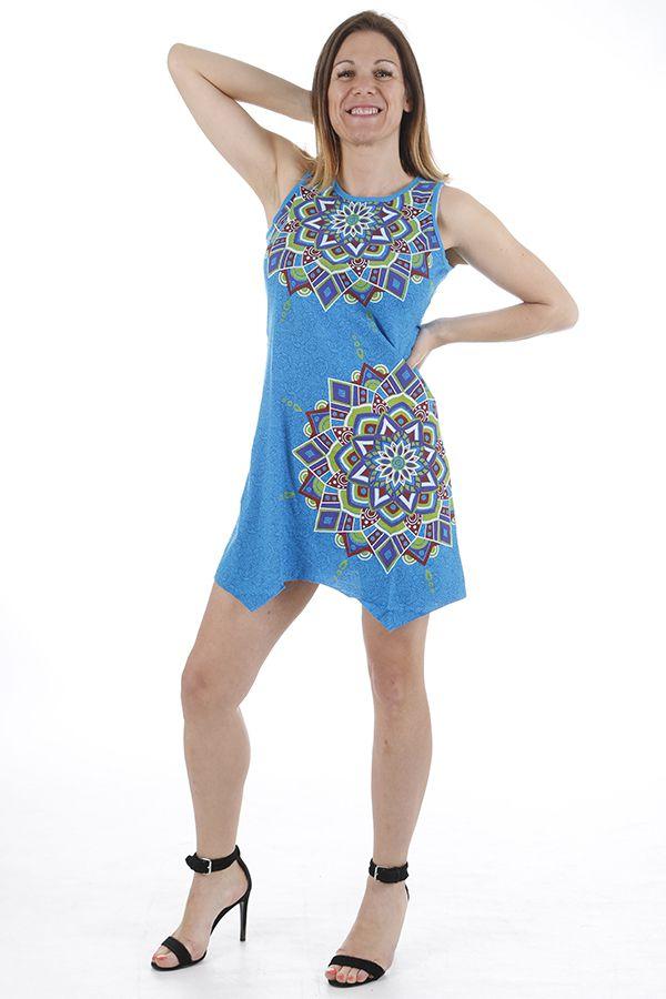 Robe courte d'été imprimée mandalas et colorée Anita 310888