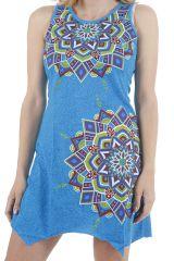 Robe courte d'été imprimée mandalas et colorée Anita 310890