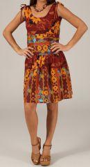 Robe courte d'été Légère, Originale et Colorée Moska Bordeaux 279565