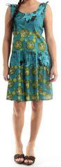 Robe courte d'été Légère, Originale et Colorée Moska Turquoise 279567